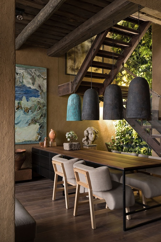 interior apartamento diseño sergey makhno con texturas naturales